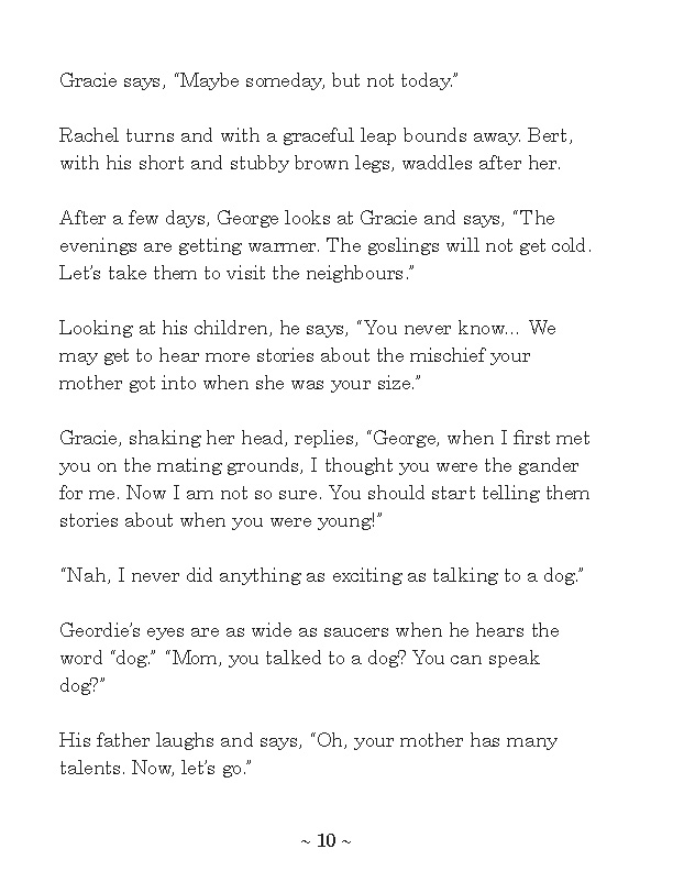 Excerpt from Gracie's Dream